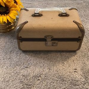 Vintage Makeup Train Case